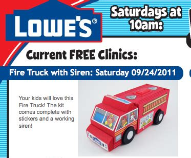 trussville lowes lowe s build grow clinic free craft sept 24 truck al