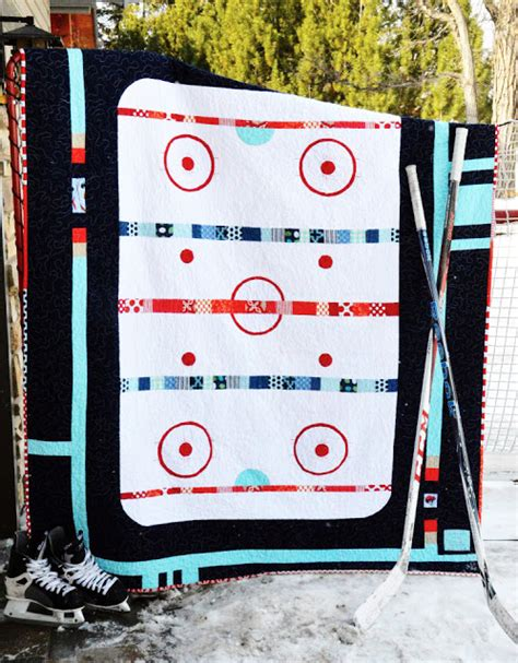 Hockey Quilt Patterns by Ocd Obsessive Crafting Disorder Hockey Quilt Pattern Is