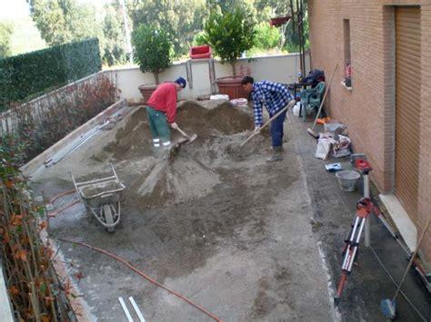 sabbia per giardino massetto per esterno pavimenti a roma
