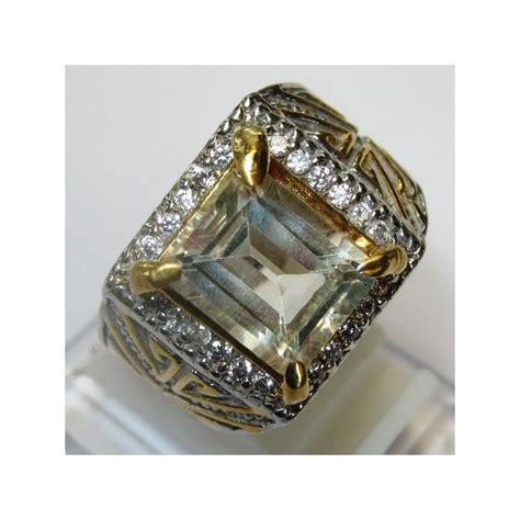 Ring Pria jual cincin pria dengan permata citrine ring 9 5us
