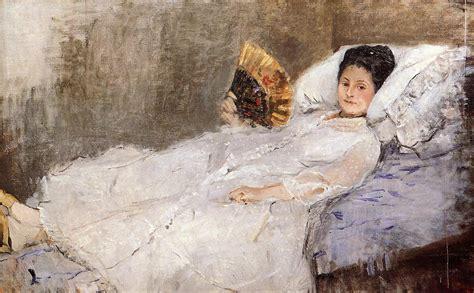 manet reclining woman portrait of madame hubbard 1874 berthe morisot