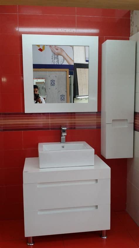muebles para bano muebles para ba 241 o mdf color blanco espejo y gabinete aby