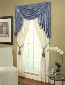 White Wrought Iron Crystal Chandelier Swag Jabots And Drapes