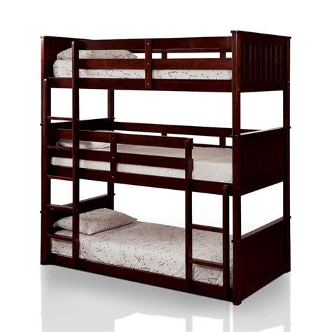 Decker Bed by Furniture Of America Dorian Decker Bunk Bed In