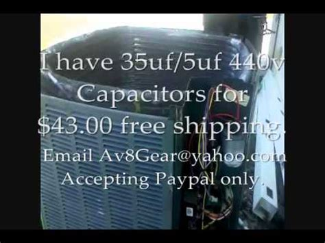 trane capacitor warranty ac problem repair trane xr13 fan motor capacitor trouble shoot and repair