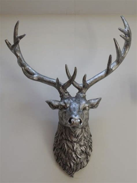 silver stag wall mounted deer stag stylish