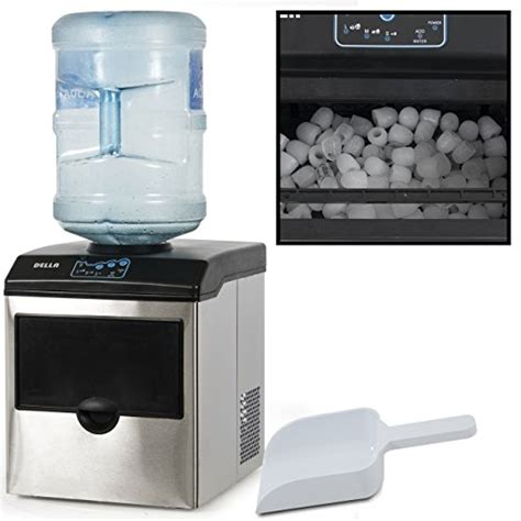 Della© Stainless Steel Water Dispenser w/ Built In Ice Maker Machine Counter Portable, 40 Pound