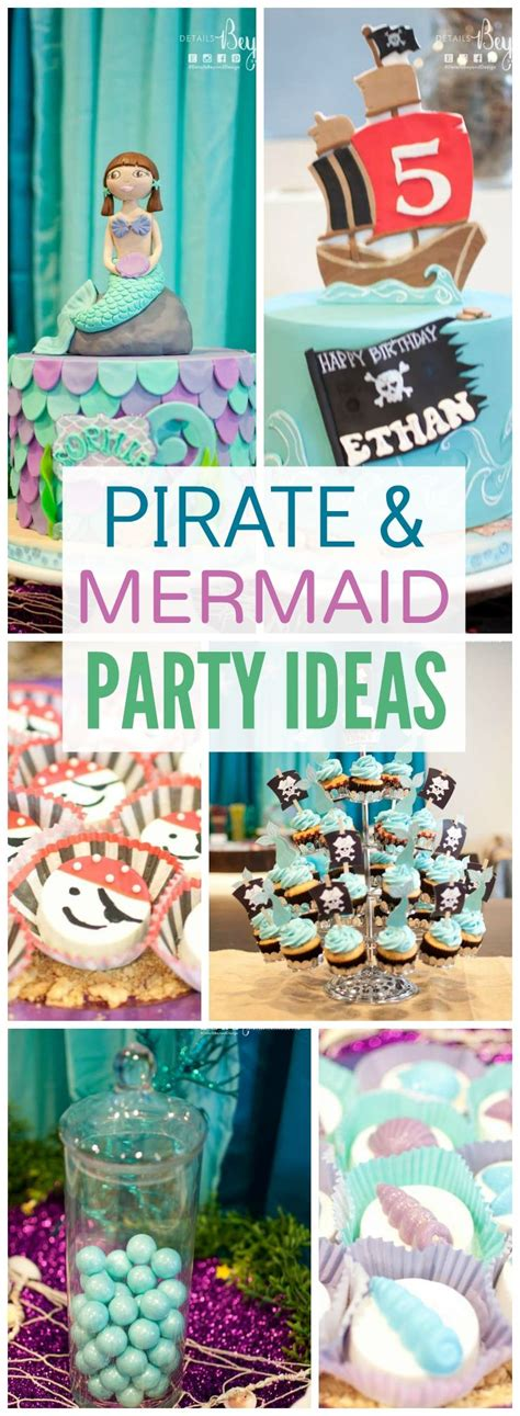 themes for joint birthday parties pirate mermaid under the sea birthday quot ethan