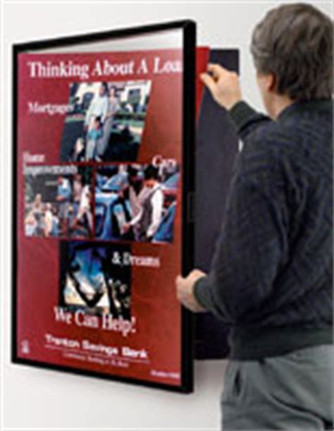 swing open swing open poster frames hinged sign holders for business