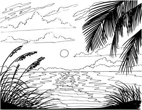 sunset coloring pages tropical sunset coloring pages free coloring for 2019