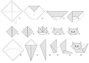 pics photos origami cat tutorials