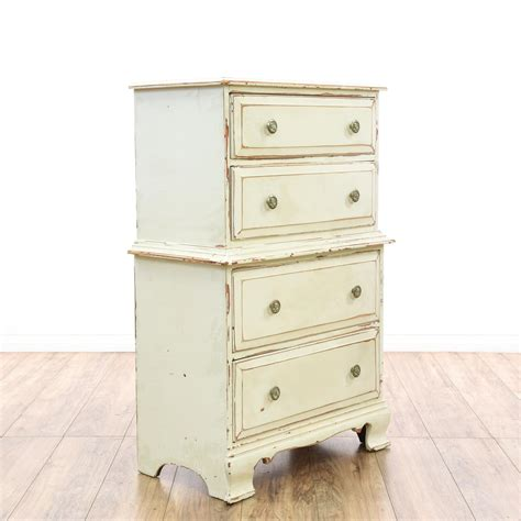 Tall Off White Cream Shabby Chic Dresser Loveseat Shabby Chic Dresser White