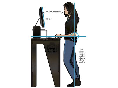 standing desk measurements standing desk measurements how to select the best height