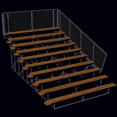 Stadium Bleacher Rh Section Obj 3ds Lwo 3d Model