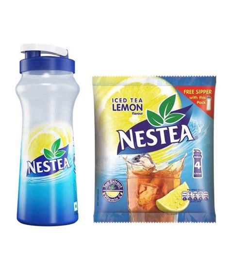 NESTEA Iced Tea Lemon (400 g)  Free Sipper: Buy NESTEA Iced Tea Lemon (400 g)  Free Sipper at