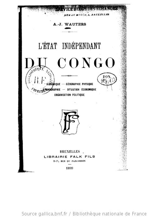 L'état indépendant du Congo : historique, géographie
