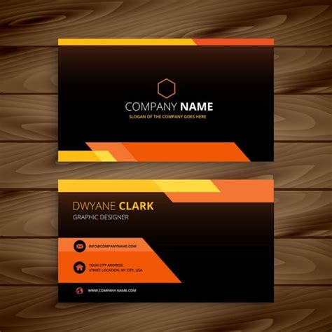 Black Business Card Template Vector by Yellow Black Business Card Vector Design Illustration