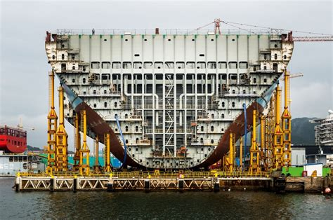largest in the world building the world s largest container ship
