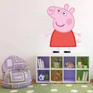 pig bedroom decor huge peppa pig decal removable wall sticker home decor art