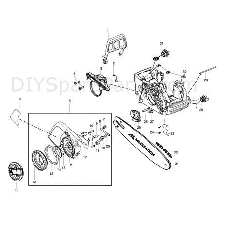 mcculloch parts diagram mcculloch cs360t 2012 parts diagram page 1