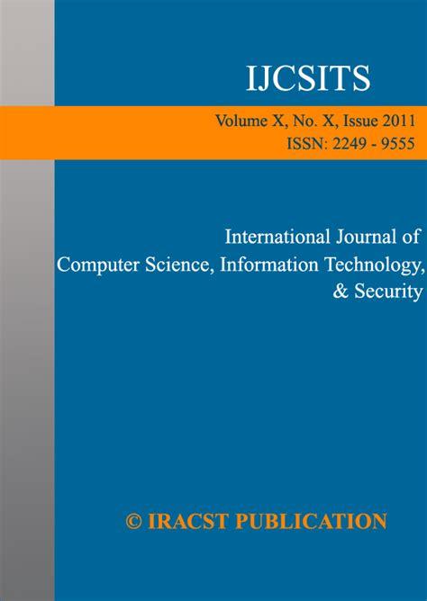 design technology education journal international research association of computer science