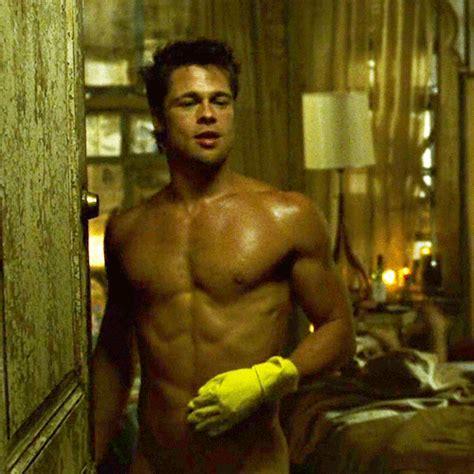 pelea de hombres desnudos the hottest gifs of brad pitt in honor of his 50th