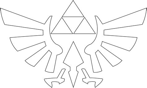 zelda triforce coloring page triforce outline www pixshark com images galleries