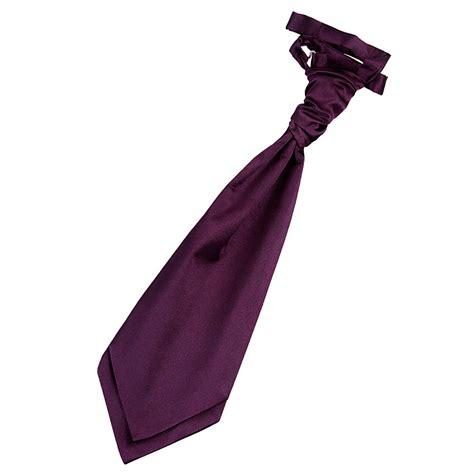 plain plum satin mens scrunchie wedding cravat tie ebay