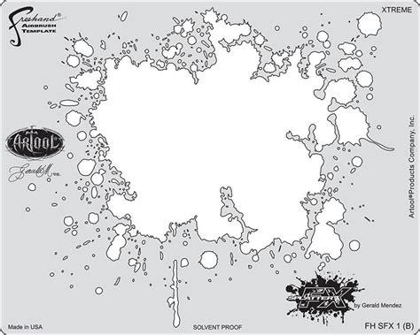 airbrush template splatter fx artool airbrush stencils by gerald mendez