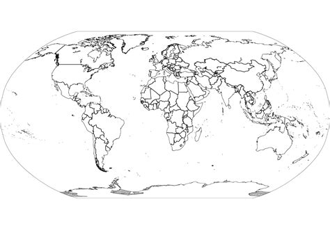 map world black outline best photos of large world maps with countries outline