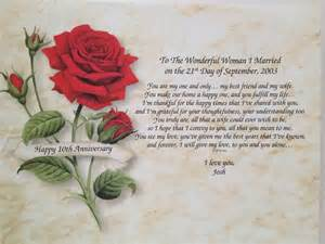 Anniversary gift for wife personalized love poem 5th 10th 20th 25th
