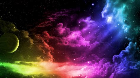 Colorful Sky Wallpaper | rainbow space 861991 walldevil