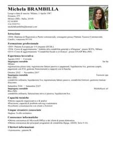 Curriculum Vitae Italiano by Esempi Di Curriculum E Lettera Modelli Di Cv E Lettera