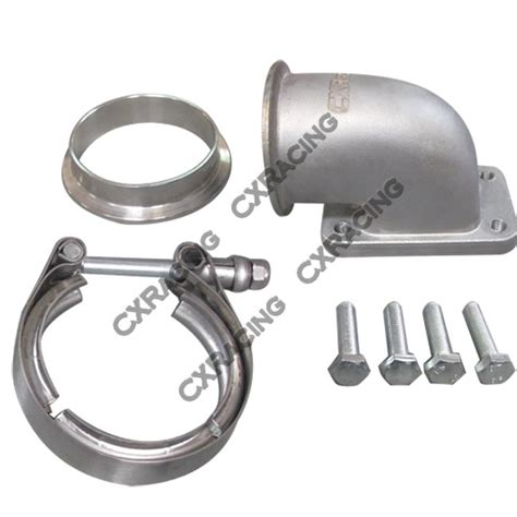 2 5 Stainless V Band Flange 2 5 quot vband t3 turbo stainless 90 degree adapter