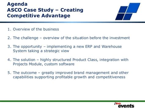 Ie Business School Mba Class Size by 092 Asco Study Creating Competitive Advantage