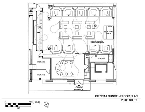 light nightclub floor plan aeccafe archshowcase