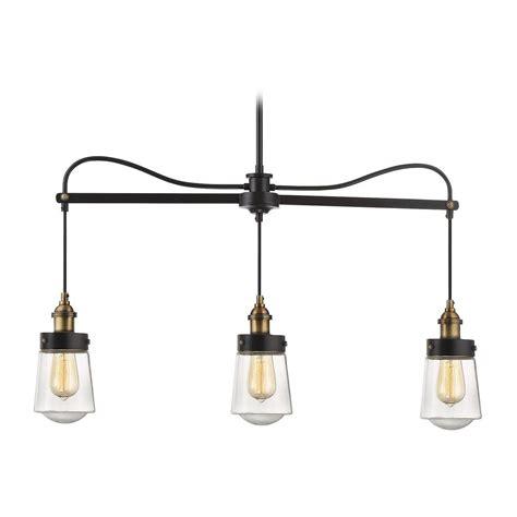 Brass Island Light Savoy House Lighting Macauley Vintage Black With Warm Brass Island Light With Bowl Dome Shade