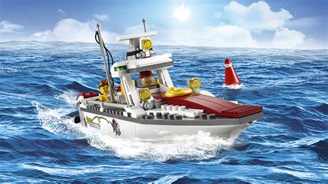toy boat fishing lego 60147 quot fishing boat quot building toy lego co uk