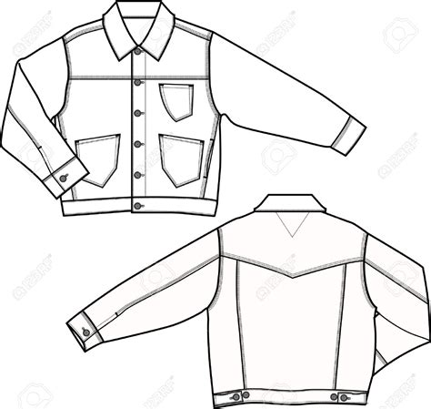 jacket design sketch jacket technical drawing cerca con google disegno