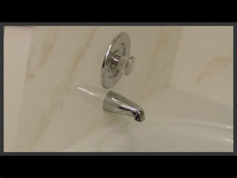 how to replace bathtub diverter how to replace a bathtub diverter spout youtube