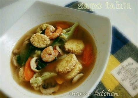 Mangkok Sapo Putih resep sapo tahu kaldu udang oleh novi manov kitchen