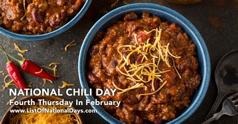 national chili day special days in february