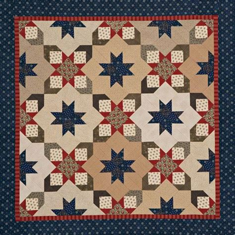 Starry Quilt Pattern by Starry Square In A Square Quilt Allpeoplequilt