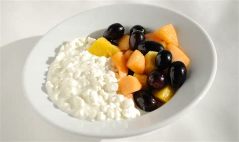 fruit and cottage cheese cottage cheese and fruit for breakfast retired with no