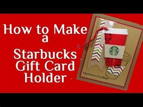 starbucks gift card holder template how to make a starbucks gift card holder crafting