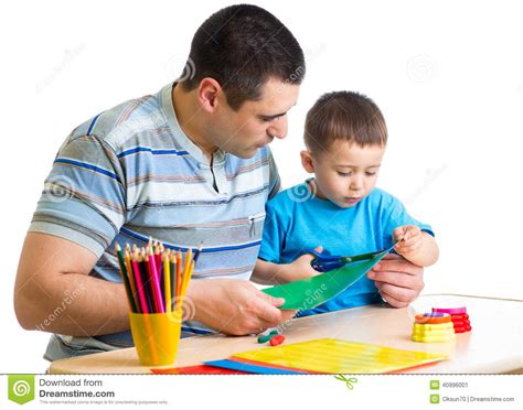 boy and his kid boy and his play together stock photo image 40996001