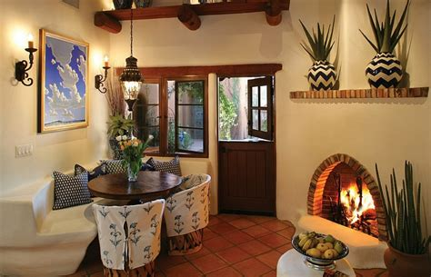 corner decorations mediterranean style dining room with cozy corner fireplace