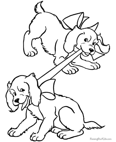 two dogs coloring page puppy and dog coloring pages