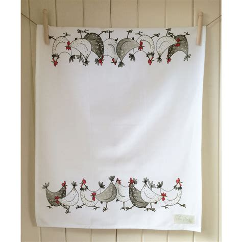 country kitchen gifts chicken wrap tea towel cotton country kitchen gift