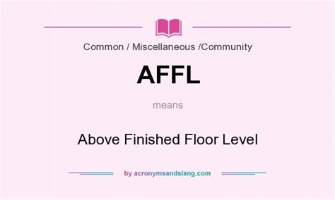 affl above finished floor level in common